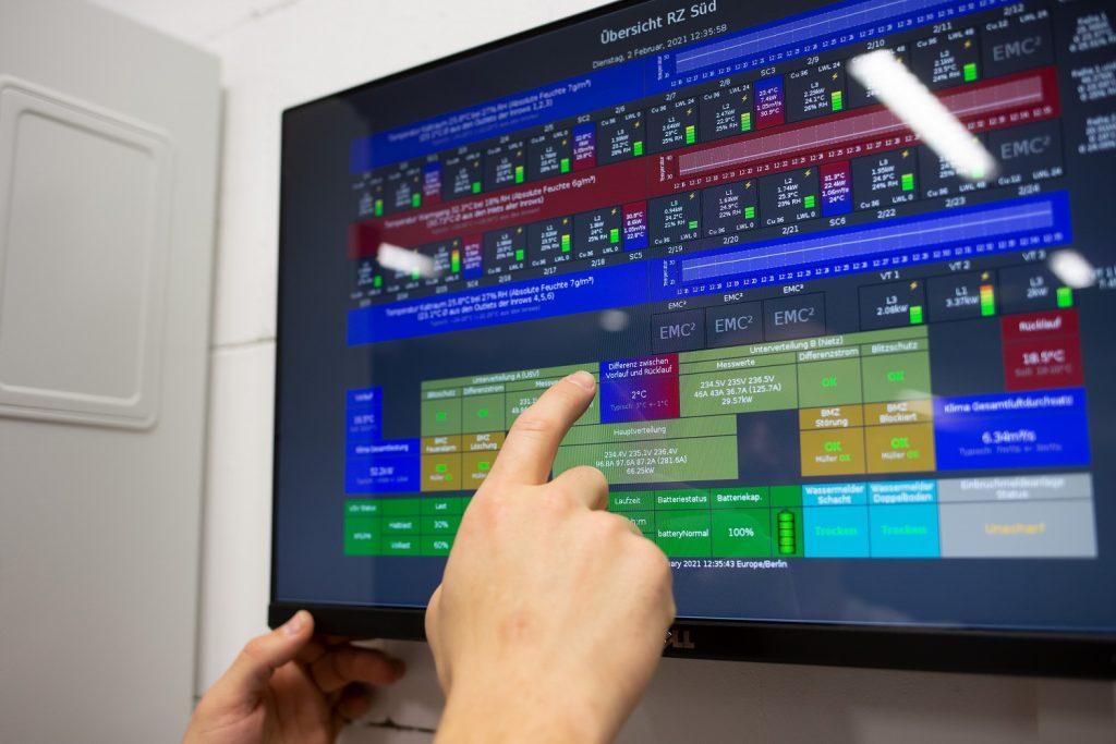 Unser Rechenzentrum ist TÜV-zertifiziert und auf dem neuesten Stand der Technik.